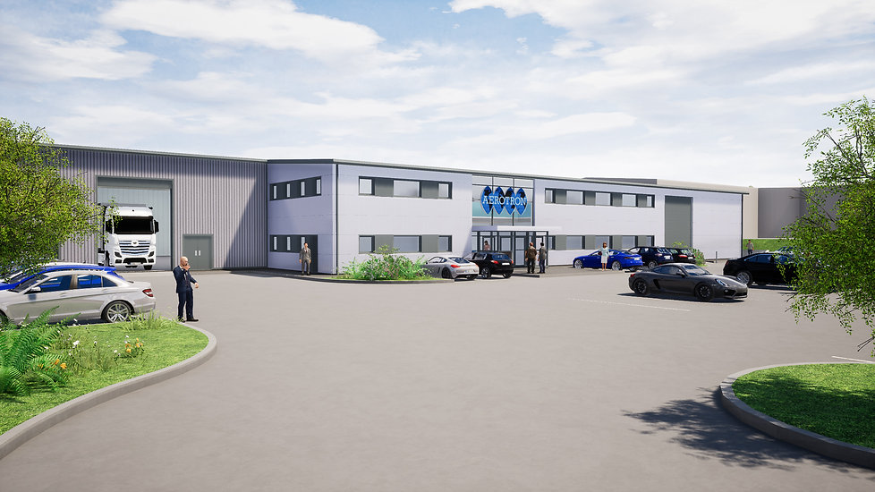 Architectural Visual for Aerotron Commercial Unit at Weycroft Avenue Axminster