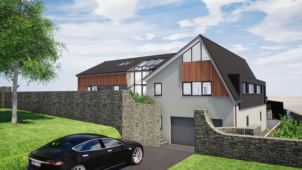 Architectural Visual of Proposed House Extension and Refurbishment in Brixham