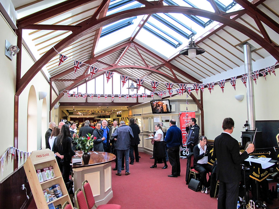 Paignton Steam Railway Ticket Office Building Interior on opening day