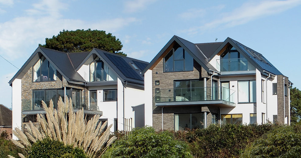 Pair of Contemporary Houses designed by MTA Chartered Architects Hampshire