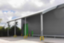 Atlas Packaging Industiral Units Curved Canopy, Roundswell Business Park