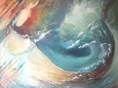 Aqua Marina - Print on Canvas SOLD