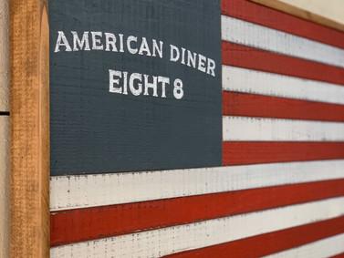 アメリカンダイナーに似合うように【木の星条旗】