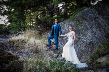 Outdoors wedding photography