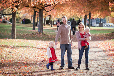 fall family photo session in Vancouver
