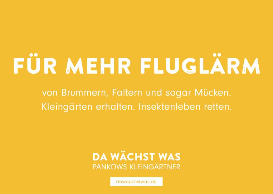FÜR MEHR FLUGLÄRM