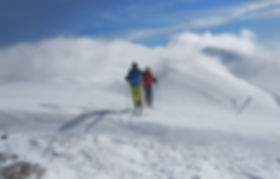 ski touring in mount Olympus