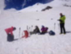Climbing mount Elbrus 5642m