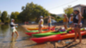 sea kayak lessons Pelion