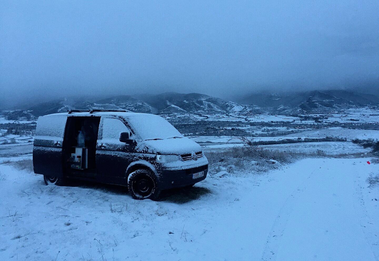 nieve furgoneta