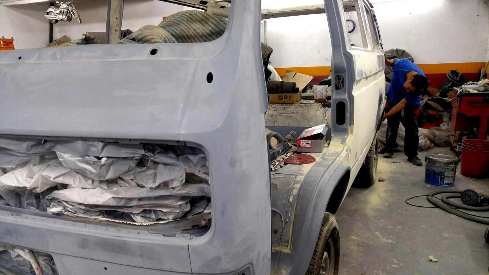 Pintura xapa furgoneta