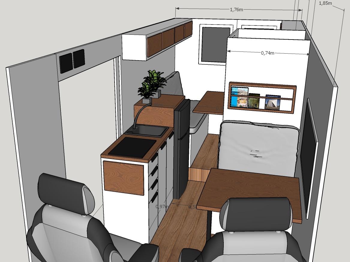 planos furgoneta 3D