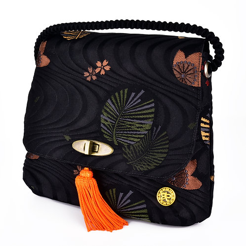 Black Floral Shoulder Bag (Small)