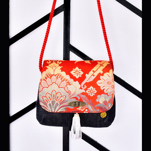 Rinne Floral ObiJime Shoulder Bag (Small)