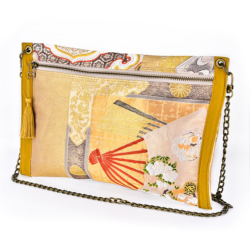 Gold Japanese Thin Art Clutch