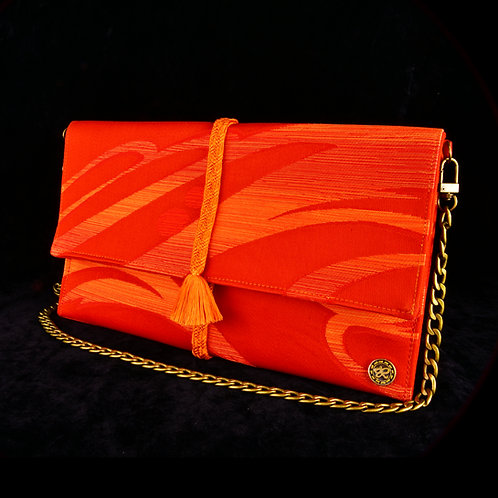 Orange Swirl Clutch A