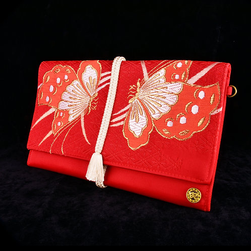 Red Cho-Cho (butterfly) Clutch