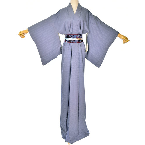 Vintage blue Kimono,Silk Kimono, Japanese Kimono, Blue Dress