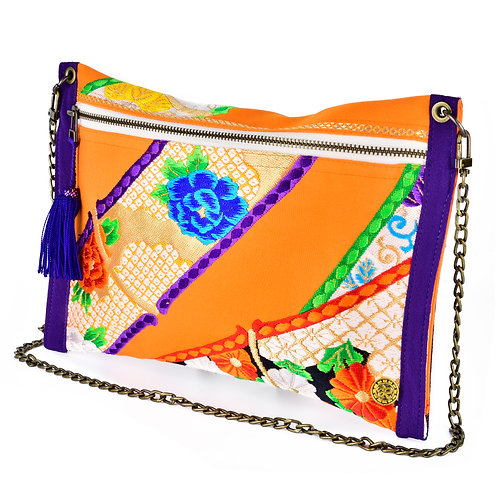 Orange & Purple Thin Art Clutch