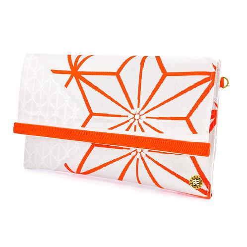 Orange Geometric Clutch