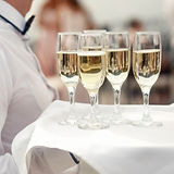 waiter-white-carries-tray-with-champagne