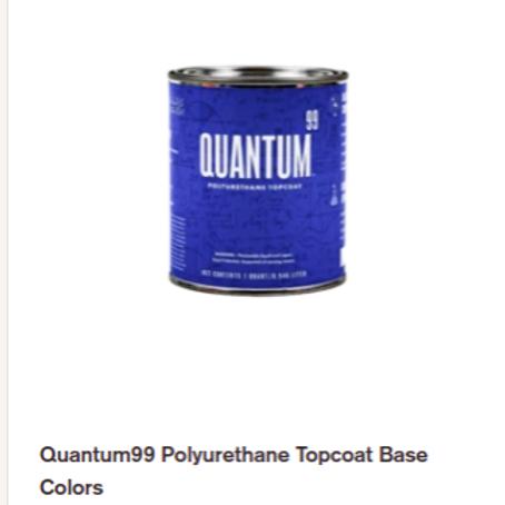 Quart - Quantum99 Polyurethane Top Coat (Pg. 1 Color Chart Colors)