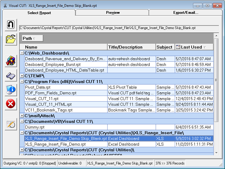 How to Export a Large Number of Columns from Crystal Reports to Excel