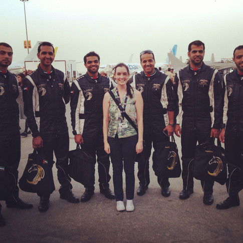 With Al Fursan - the UAE's aerobatic team...