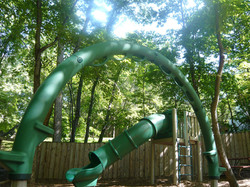 View of the playground slide