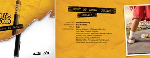 """""""LEGS"""" CAMPAIGN BEST OF SHOW AT THE ADDY AWARDS"""