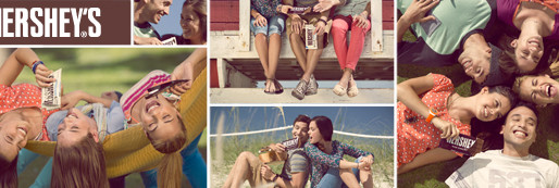 HERSHEY'S AND Y&R SELECTED CANDELA TO SHOOT FRESH AND FUN IMAGES.
