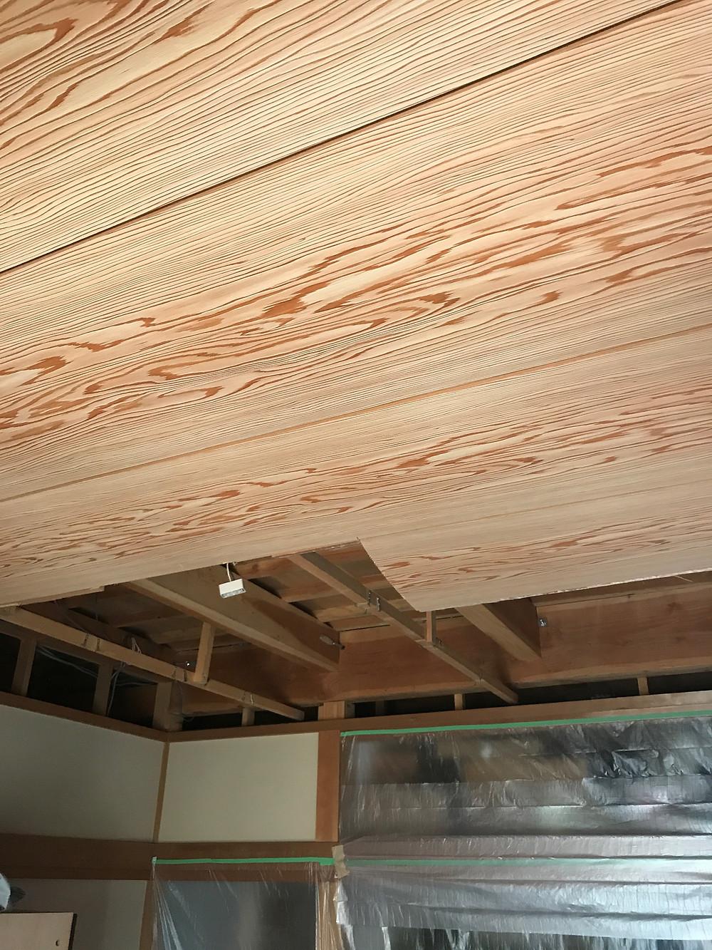 天井断熱杉柾2