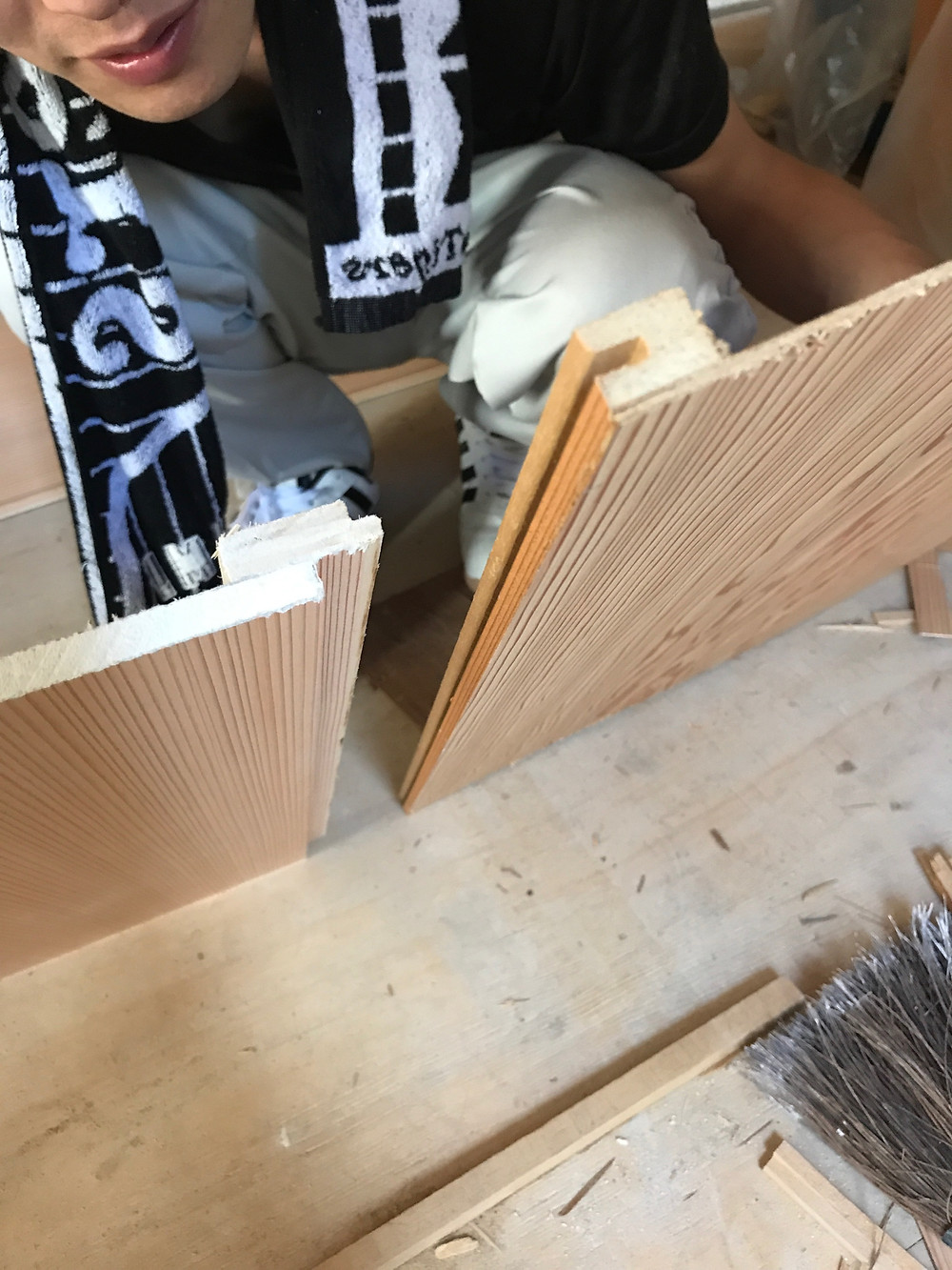 天井断熱杉柾 材料比較