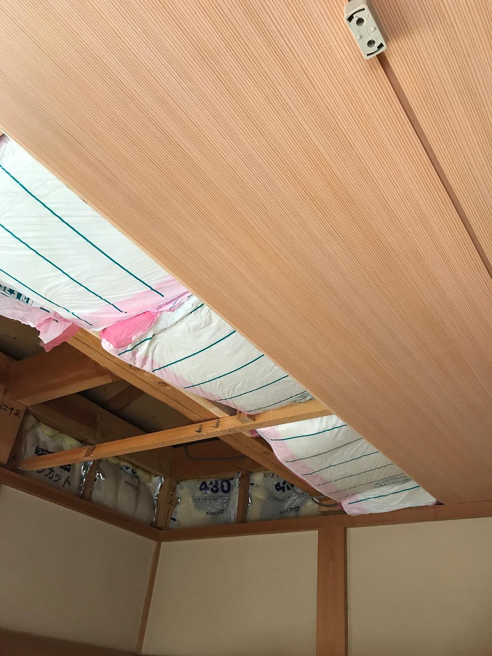 天井断熱杉柾4