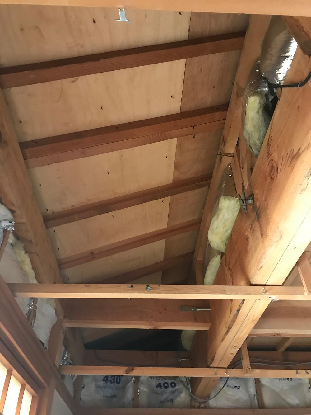 天井断熱杉柾3
