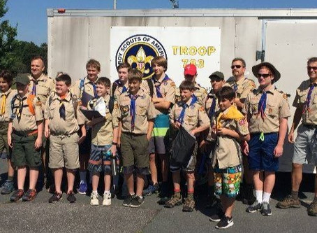 Clean up with the Scouts from Troop 783