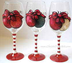 Christmas wineglass party