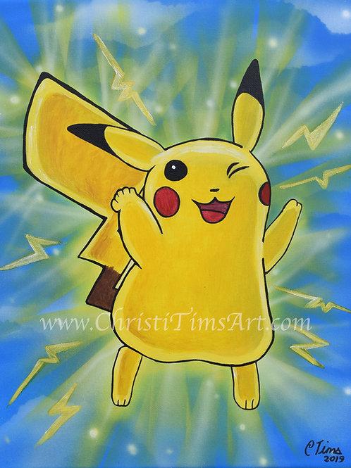 """Pikachu 8x10"""" Paper Print"""