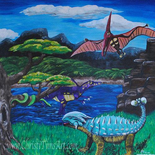 "Dino Days 14x14"" Paper"