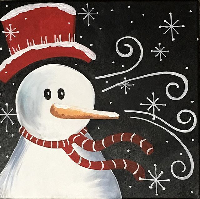 Snowman by Christi Tims Art