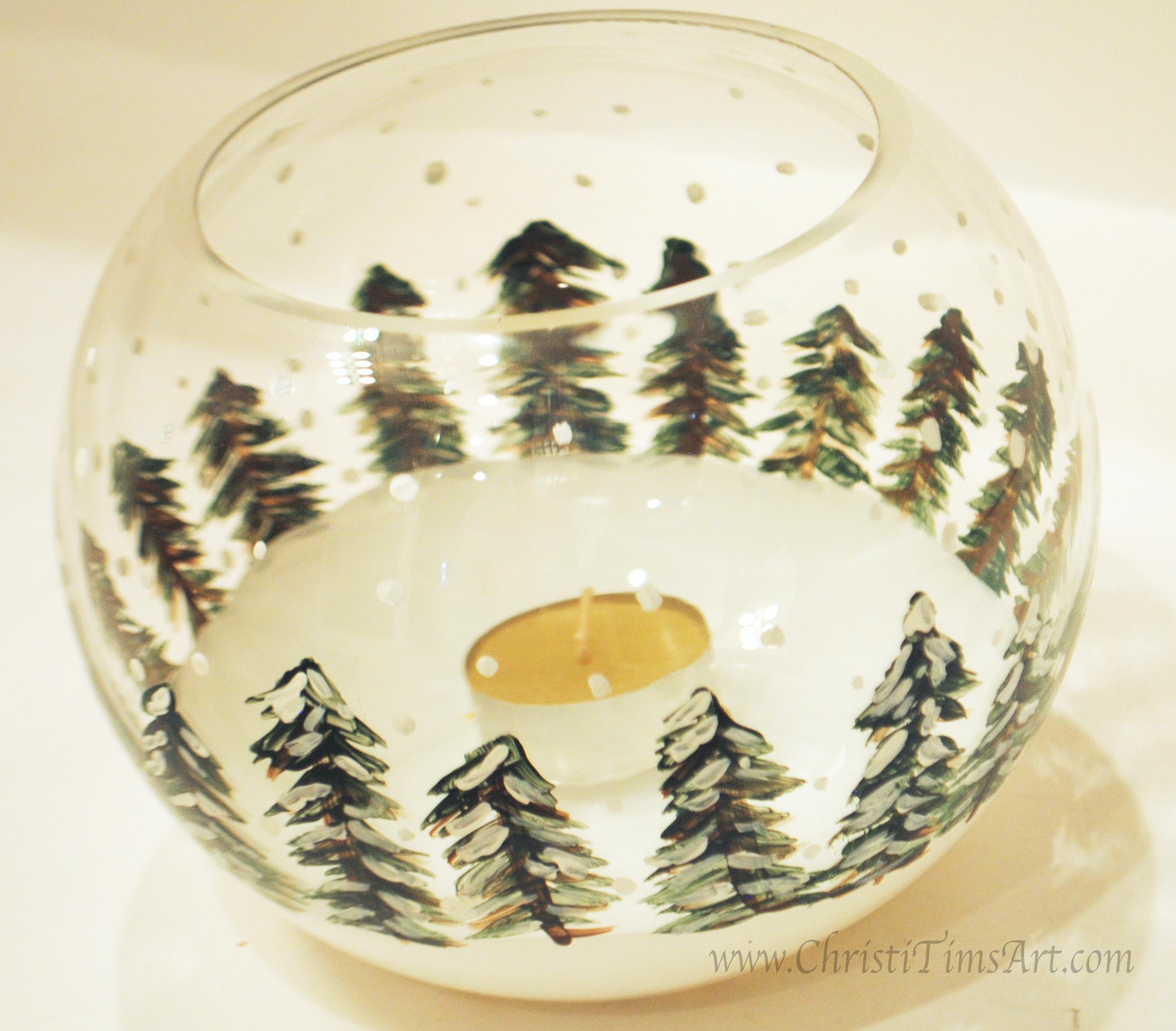 Christmas candle Christi Tims Art