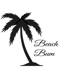 Beach Bum vinyl design