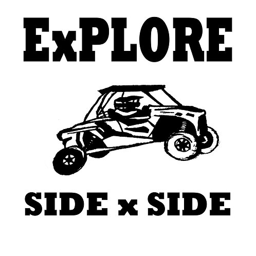 "T-shirt print... ""Explore Side by Side"""
