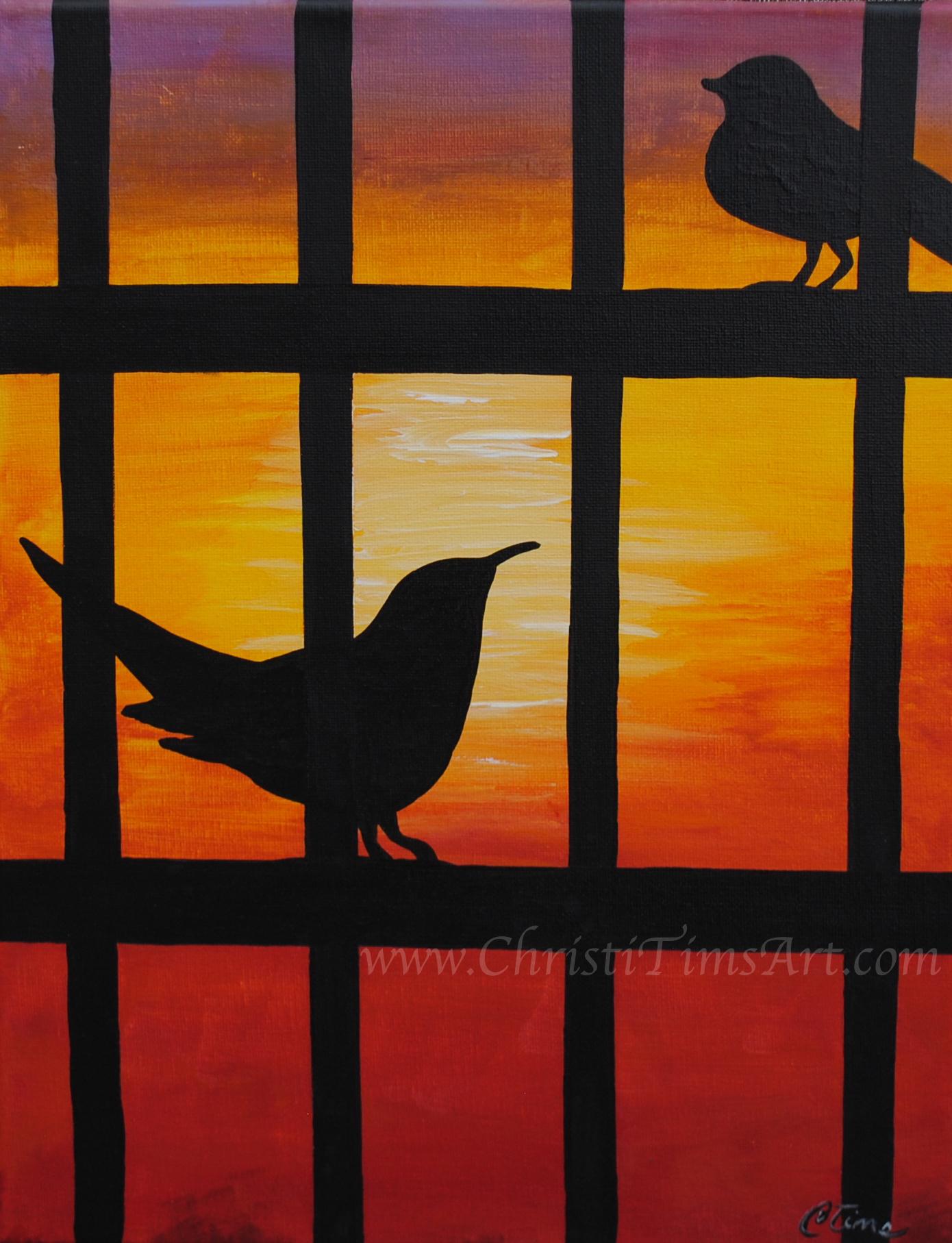 Birds on a Trellis by Christi Tims
