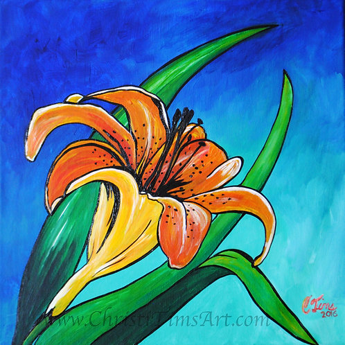"Tiger Lily 12x12"" Canvas Print"