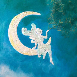 Fairy in the Moon by Christi Tims