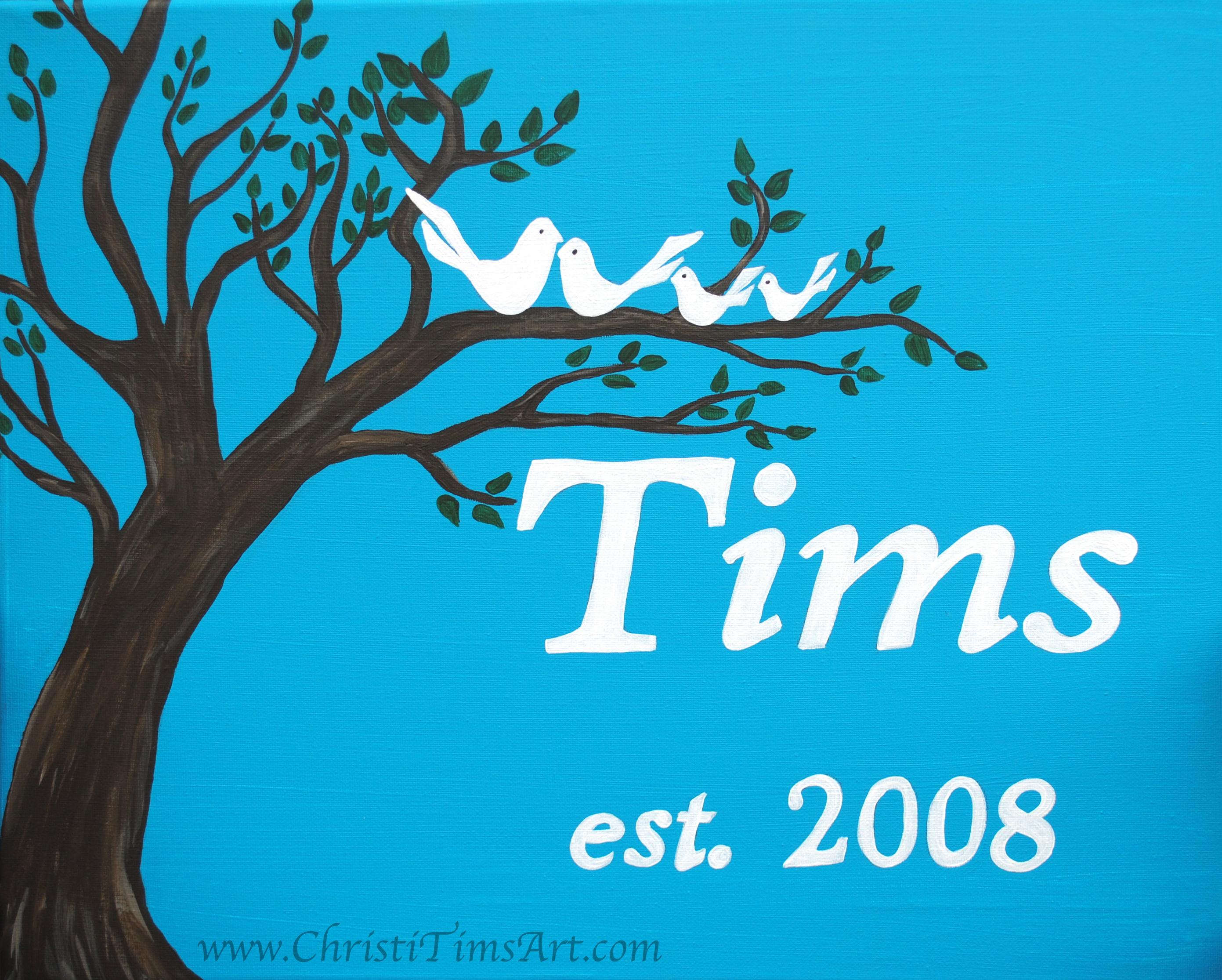 """Family Tree 16x20"""" acrylic on canvas"""