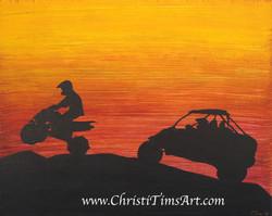Safari Ski Ride Christi Tims Art