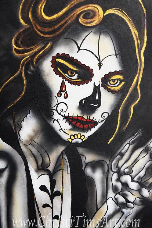"""8x16"""" Sugar Skull Lady"""