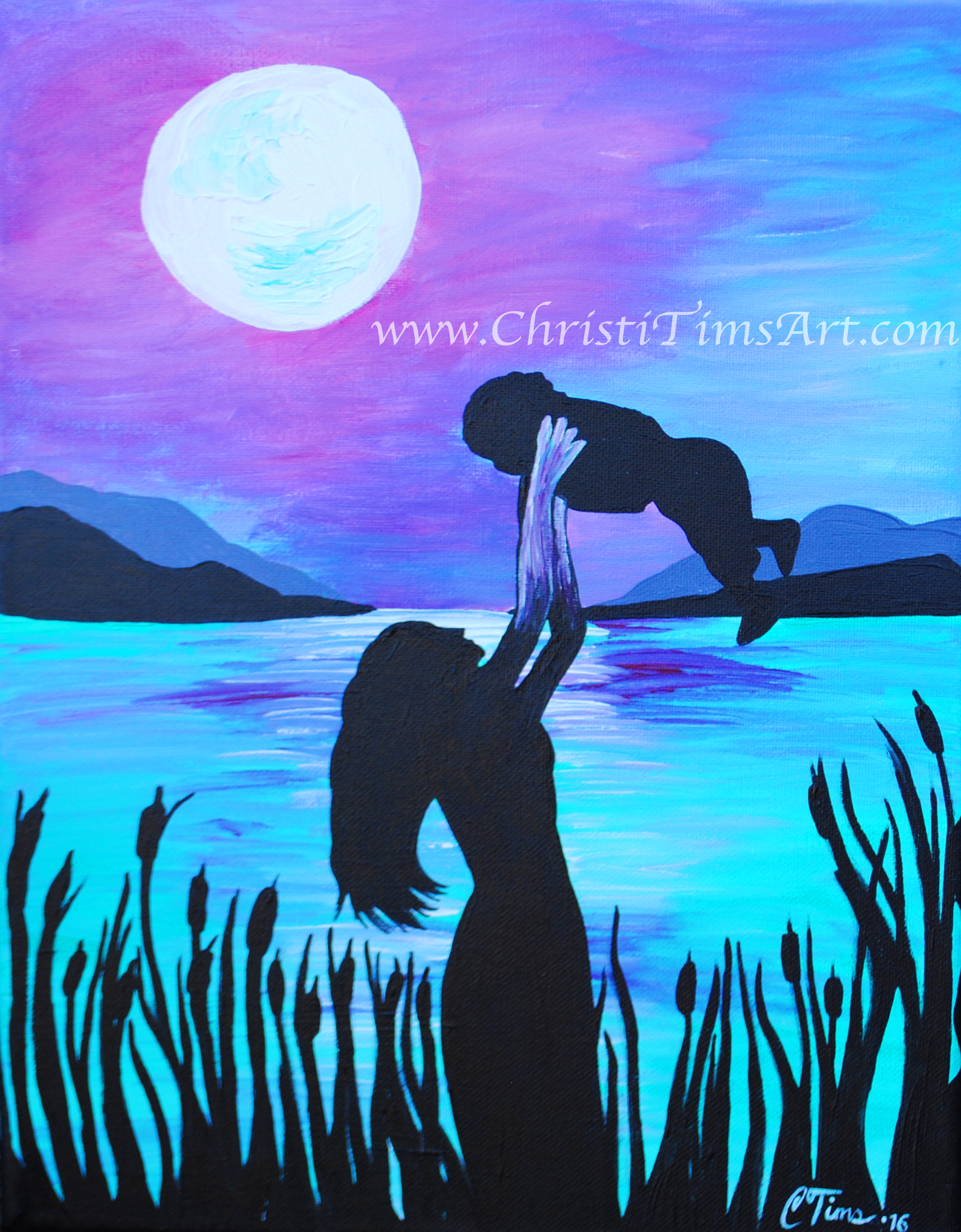 Mother and child painting Christi Ti
